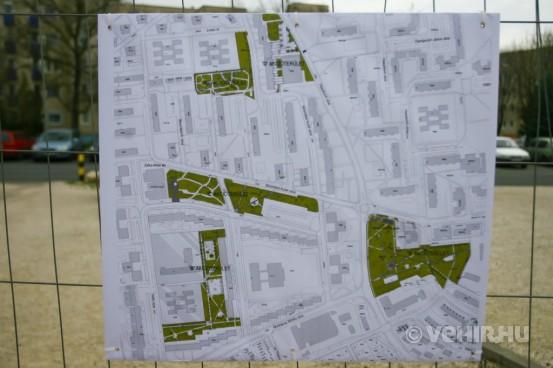 Ezeken a területeken újulnak meg a közterületek. A jobb alsó sarokban található a Kálvin János park